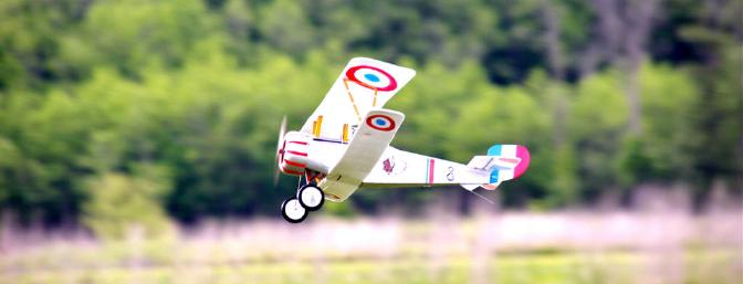 The Nieuport is not a floater by any means, so you might want to keep at least half throttle on it to maintain level flight.