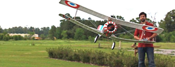 In your face, plane! The Nieuport can be flown close to you, but you must do so in calm conditions. Here, I'm not trying to do a knife edge with a three-channel plane, but rather correct after a crosswind hit my little eight-ounce foam model.