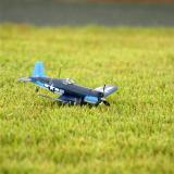 If you're landing on grass, simply kill the throttle and the Corsair will be back on soft surfaces again.
