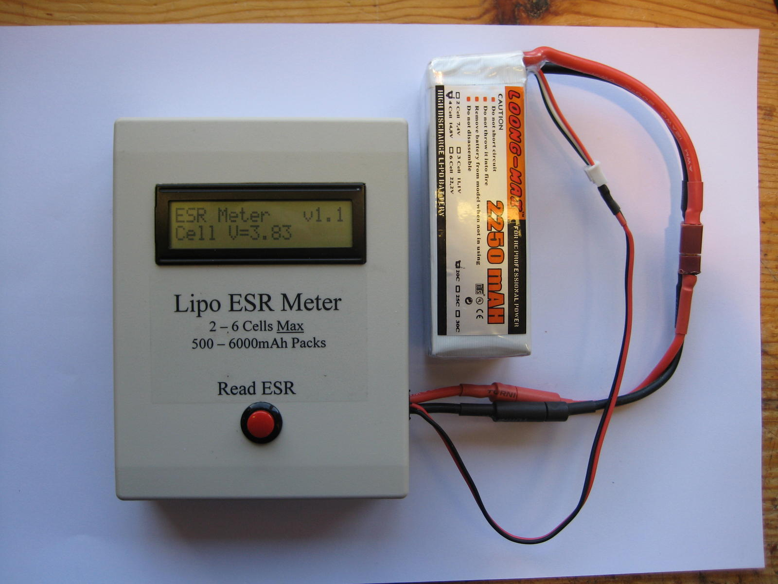 Meter Reading Cell Voltage
