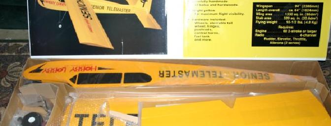 The Telemaster came well packed and each part was wrapped in plastic.