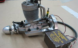 Os 60  open rocker motor with ch ignition and motor mount , free shipping