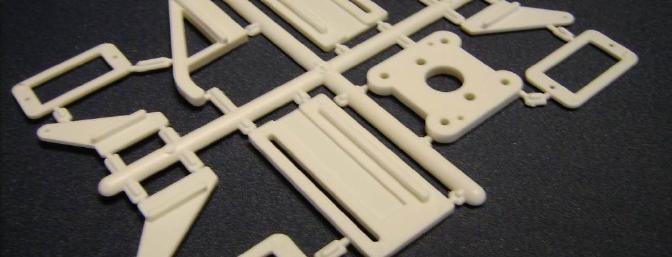 The plastic hardware parts: servo mounts, control horns, motor mount, etc.