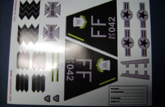 The included decal sheet