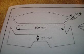 This is where it shows to cut them at an angle in the manual...