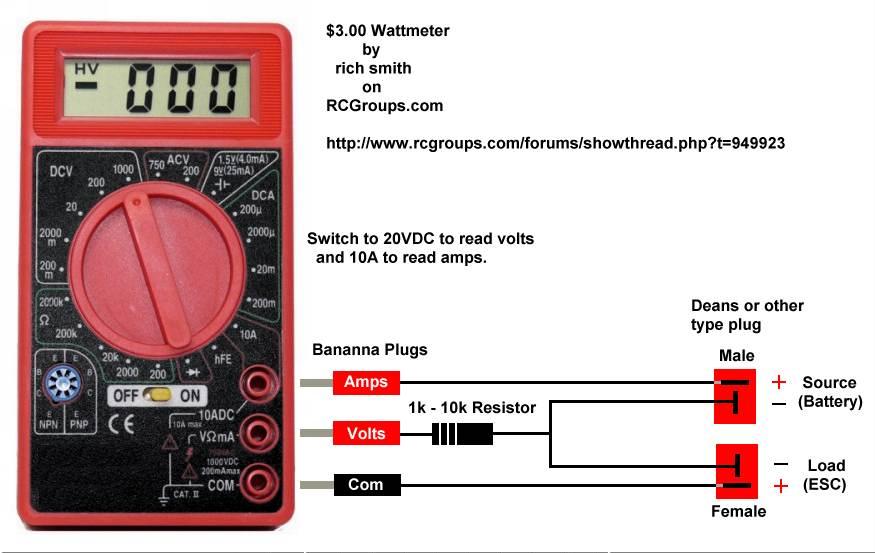 a2376163 171 3 Dollar Watt Meter 2 eastbay rc three dollar wattmeter watt meter wiring diagram at eliteediting.co