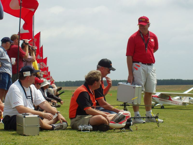 Pilots and models wait for their chance to show their skills