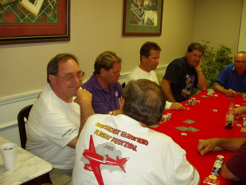A large crowd gathered for the poker tournament