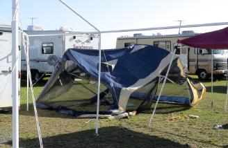 I hope this tent was vacant!