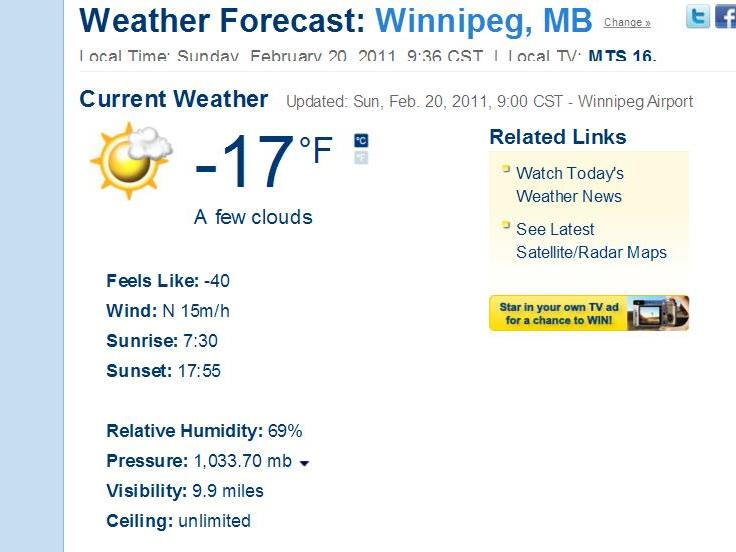 Name weather forecast winnipeg manitoba the weather network