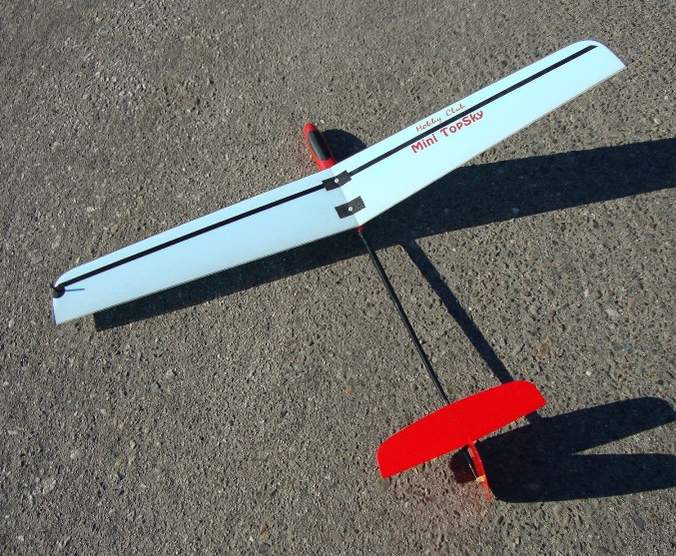 Here is the little gem, ready for her maiden flight.