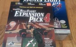 MIB RealFlight G4 Flight Simulator w/NIB Expansion Pack 4...LIKE NEW!