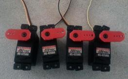 4 *AS NEW* Hitec 425BB Servos...Installed Only...SMOKIN' DEAL
