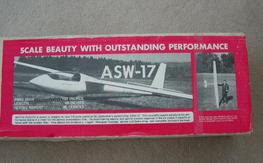 NIB Astro Flight ASW-17 sailplane kit.