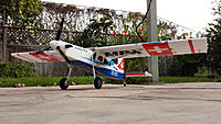 """Name: 3 blade.jpg Views: 24 Size: 330.5 KB Description: MPX Pilatus with 2"""" Dubro spinner and 3 blade Master Airscrew prop."""