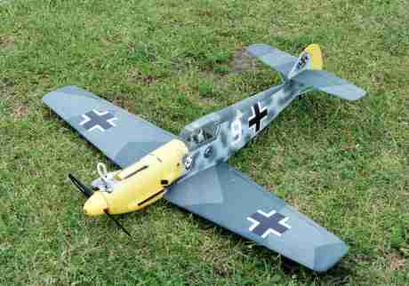 Cambrian Bf109E in glow configuration