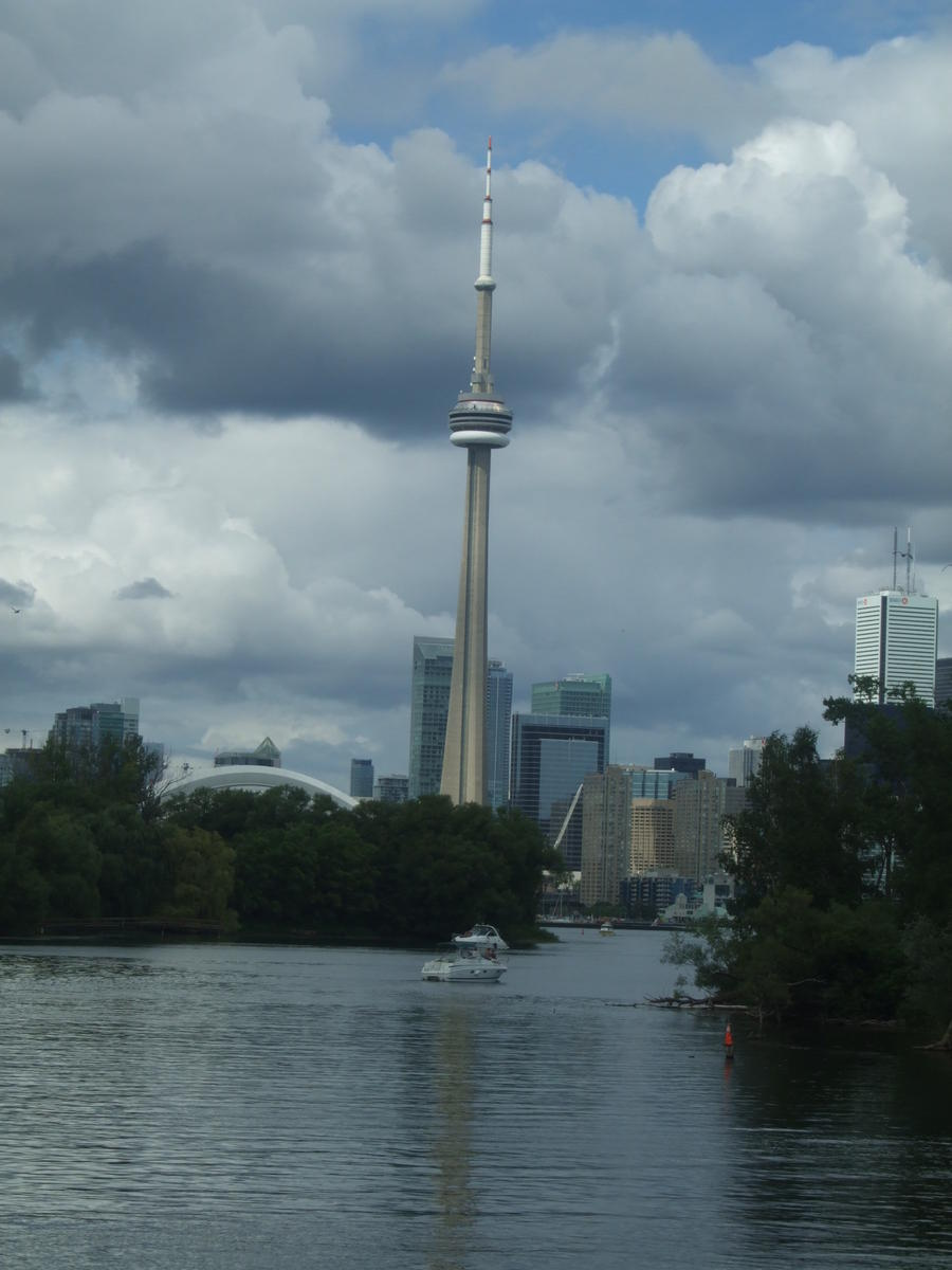 The CN Tower seen for the harbour cruise.Went to the top of this into the pod.also stood on the glasss floor.