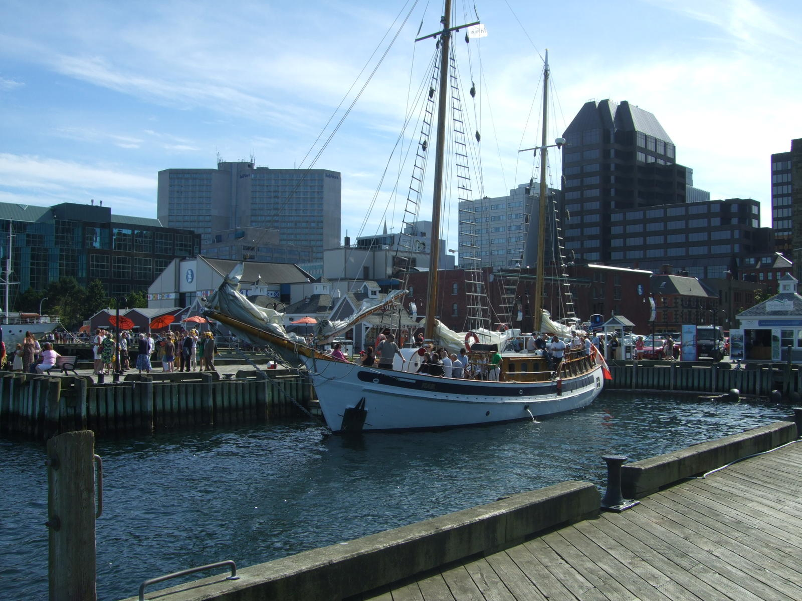 the main part of down town Halifax. The water front and it was humming with activity.