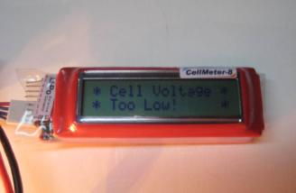 A low voltage message is accompanied by an alert tone