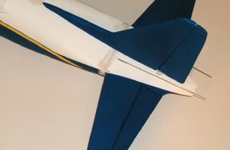 After joining the fuselage halves, I filled in the seams and joints.