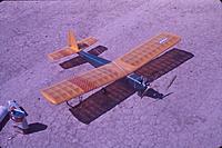 This was my Goldberg Falcon 56.  Power was Enya .19, guidance by MRC (Futaba).  Flew very well.