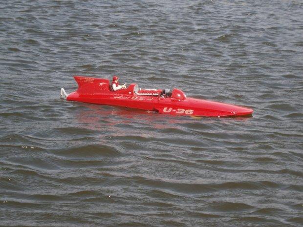 "Name: Miss US IV.jpg Views: 7 Size: 63.4 KB Description: 1/8 scale ""Miss US IV"" U-36. ML Boatworks Lauterbach kit. TP Power 4050 1210kv motor Aeaking 130A HV ESC, 8s lipo, Prather s235 prop."