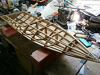 Name: m_013.jpg Views: 20 Size: 80.8 KB Description: Frame risers cut off & stringers sanded to the correct angles ready for decks & sides to be added.