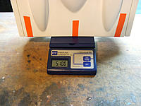 Name: AV0002.jpg Views: 100 Size: 289.6 KB Description: 5 pounds 10 ounces for hull and hatch