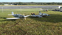The Airacobra along with my other two models selected for the Warbirds over Sarasota event. 12/16/14