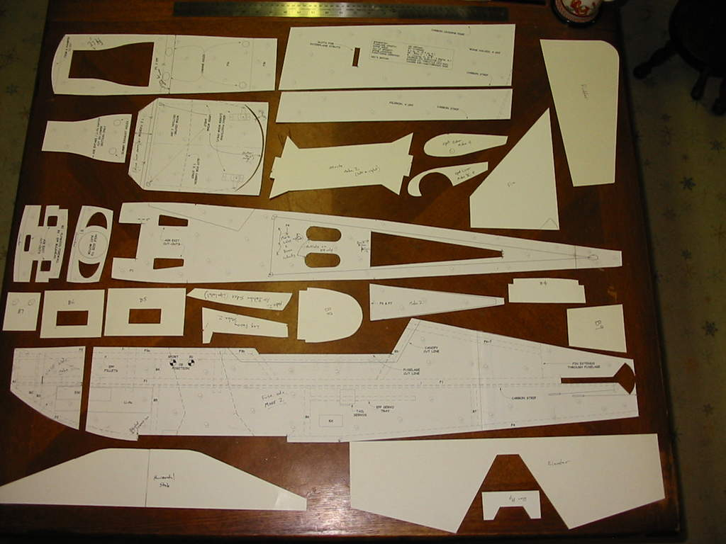 This is just a photo of the completed templates.