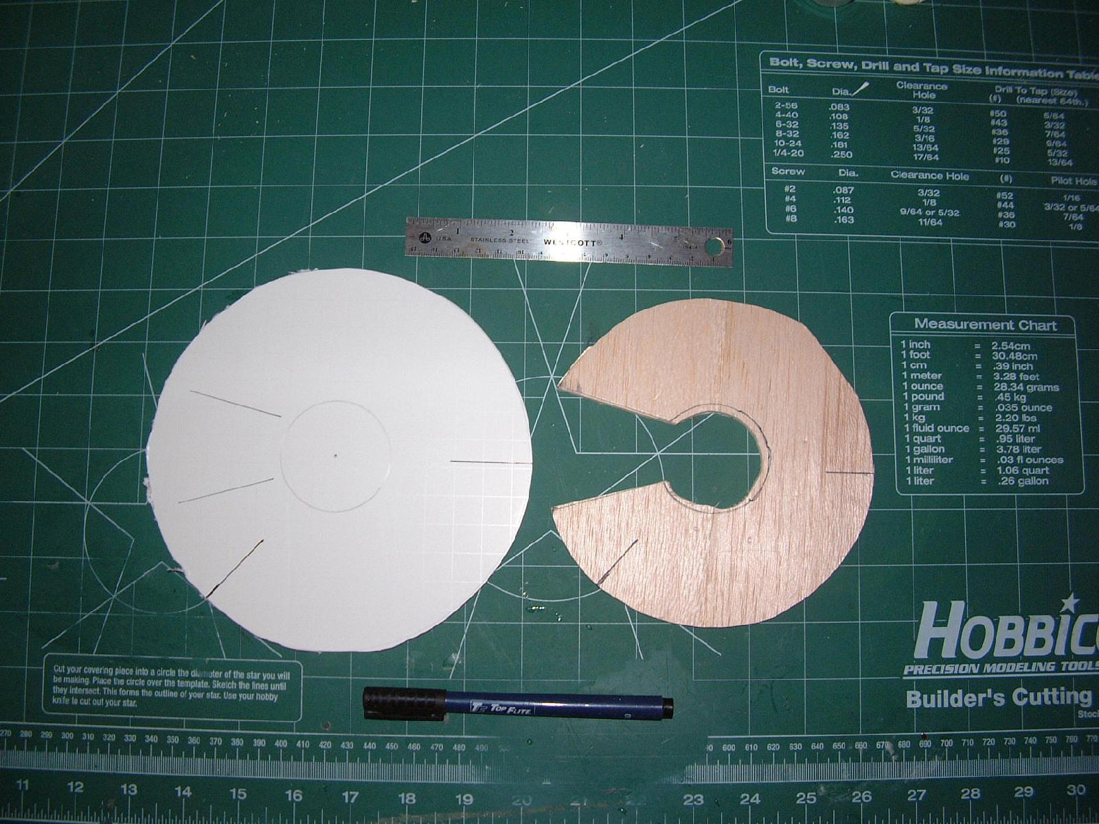 Final backing was made of thin foam-board.