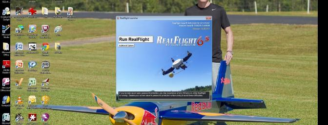 When you click on the RealFlight Icon, click on the box entitled