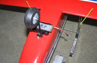 "To place the balance point at 3.5"" about 4 oz. of lead had to be added to the front of the plane."