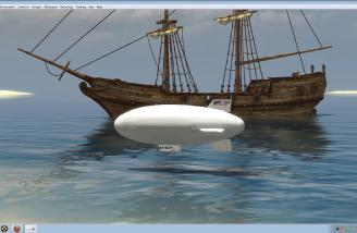 Or would you rather fly the blimp around the shipwrecks?