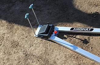 You will have to supply two tent stakes to secure the Airopult if you use it on dirt or grass. Concrete and asphalt will require some sort of metal rod.