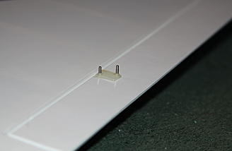 """UGLY"" machine screws protruding through the aileron horn...just another 'gripe' of mine"