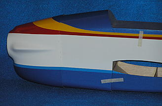 The business end of the fuselage with cowl attached....nice color match.