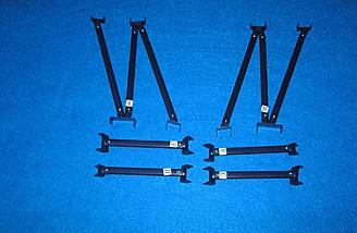 Pre-made struts ready to be installed.
