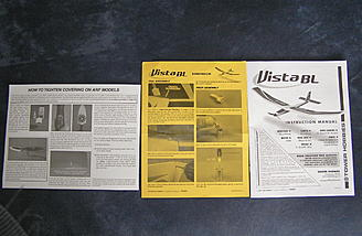 All the printed material for the Vista BL. Read before you start!