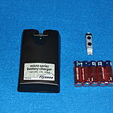 Here is the supplied LiPo battery charger, Lipo battery and the dry cells that are used to power the charger.