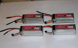 4, new never used Thunderpower 5s 1800mah 70c lipos