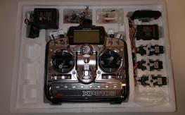 JR XP8103 PCM Radio with R649 Receiver and 3 Servos channel 19 mode 2