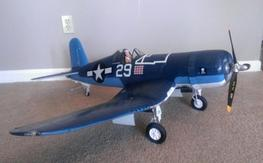 LX Models 1.2m Corsair with Folding Wings!!