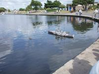 Name: Canoe Lake U-96 v RN Battle ship.jpg