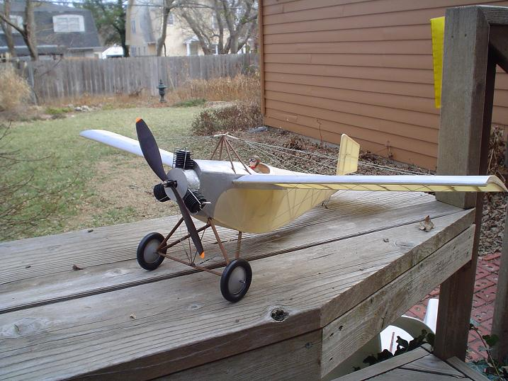 "The Caudron, from the R/N Models kit. 28"", IPS-A motor."