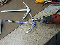 Name: shaping the shank with motor tool.jpg