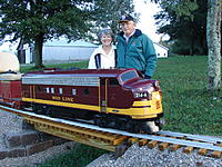 Name: Ray & Renee with the locomotive.jpg