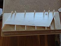 Name: P1090370.JPG Views: 23 Size: 90.7 KB Description: Then place the balsa side into the jig and sand the trailing edge.
