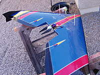 Name: P1010006.jpg Views: 3101 Size: 138.0 KB Description: Taper the inboard side of elevons like this it will fly much better,the elevator wont be so hyper sensitive and it will roll better .