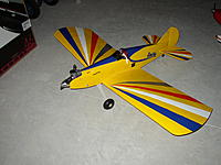Name: P8010021.JPG Views: 8 Size: 692.3 KB Description: Modified the Big 'Poke with added flaps and landing gear moved to the fuselage
